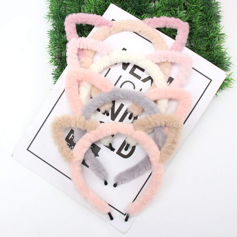 Oaoleer Hair Accessories Coral Fleece Crown Headbands for Girls Rabbit Ears Makeup Hair Hoop Young Girls Wash Face Hairbands in Women 39 s Hair Accessories from Apparel Accessories