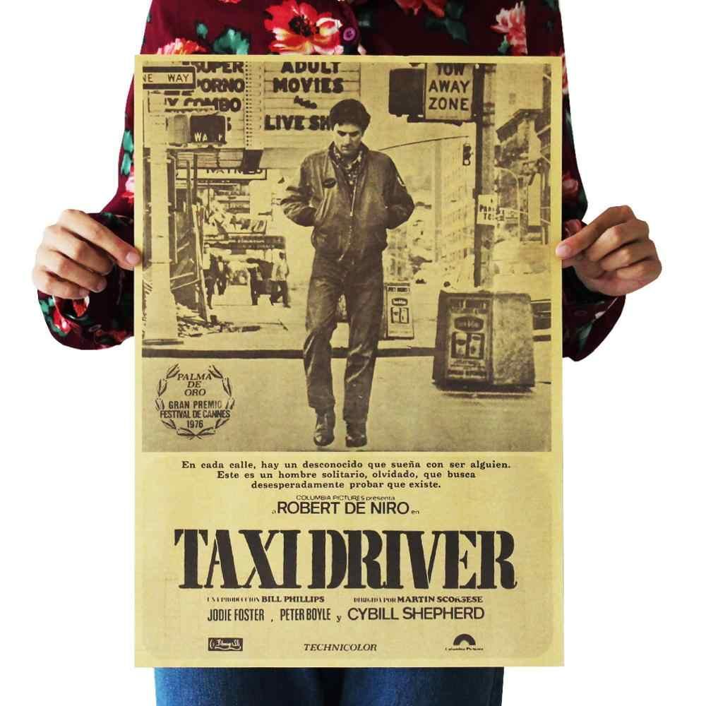 Taksówkarz klasyczny film film papier pakowy plakat do kawiarni lub baru Retro plakat dekoracyjny 51x35.5cm