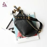Hiboom 2020 Chain Fashion Waist Bags Phone Purse Pocket Belt BagsGenuine Leather Luxury Pack Brand Women Chest Wallet Bag 5 Col
