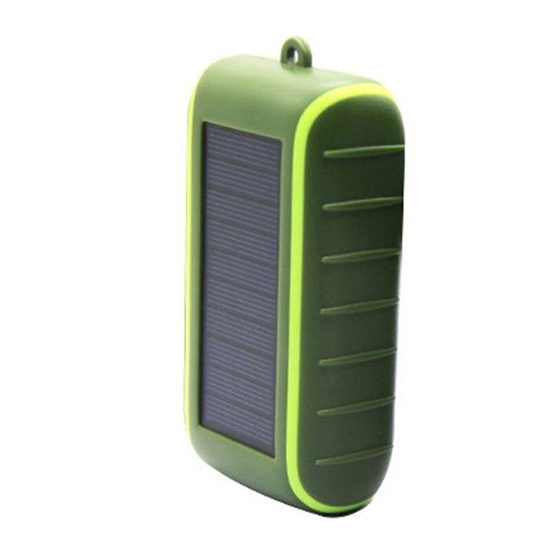 Многофункциональный внешний водонепроницаемый светодиодный фонарик на солнечной батарее, 8000 мАч