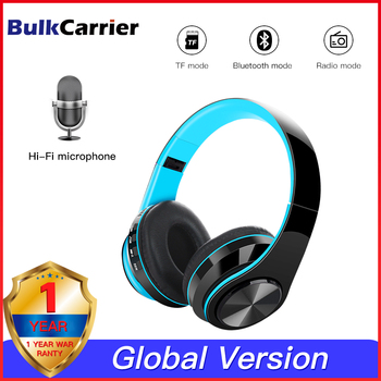 Wireless 5.0 Bluetooth Headphones Deep bass Stereo Bluetooth Headset Support TF mode with Microphone for iphone Android PC Ipad