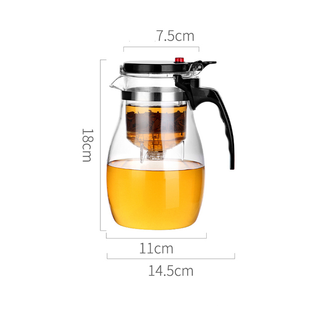 Glass Teapot High quality Heat Resistant Glass Chinese kung fu Tea Set Kettle Coffee Jug Glass Maker Convenient For Office Home 5