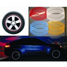 New 16 Pcs Strips Wheel Stickers And Decal Reflective Rim Tape Bike Motorcycle Car Tape 7 Colors Car Styling