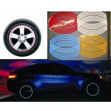 Nowy 16 sztuk naklejki paski na koła i naklejka odblaskowa taśma na obręcze rower motocykl taśma samochodowa 7 kolorów Car Styling