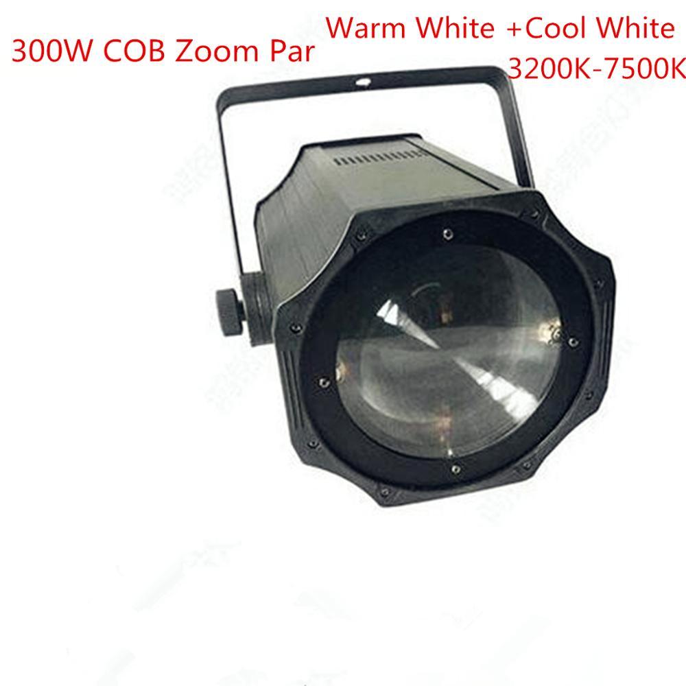 NEW LED Par 5-50 Degree LED Zoom 300W COB LED Par Light Warm White + Cold White 2in1 RGBW 4in1 Stage Disco Light Led Par 64