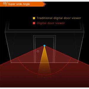 Image 4 - 2.8 inch LCD Color Screen Digital Doorbell 90 Degree Door Eye Doorbell Electronic Peephole Door Camera Viewer Outdoor Door Bell