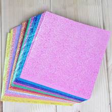 Square Papers Craft-Decoration Diy Scrapbooking Handmade Folding Solid-Color Shining