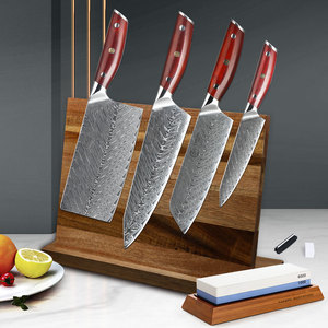 YARENH 6 PCS Kitchen Knife Set 67 Layers Damascus Steel Utility Knives Sets  Magnetic Knife Holder Set With Rosewood Handle Knife Sets  - AliExpress