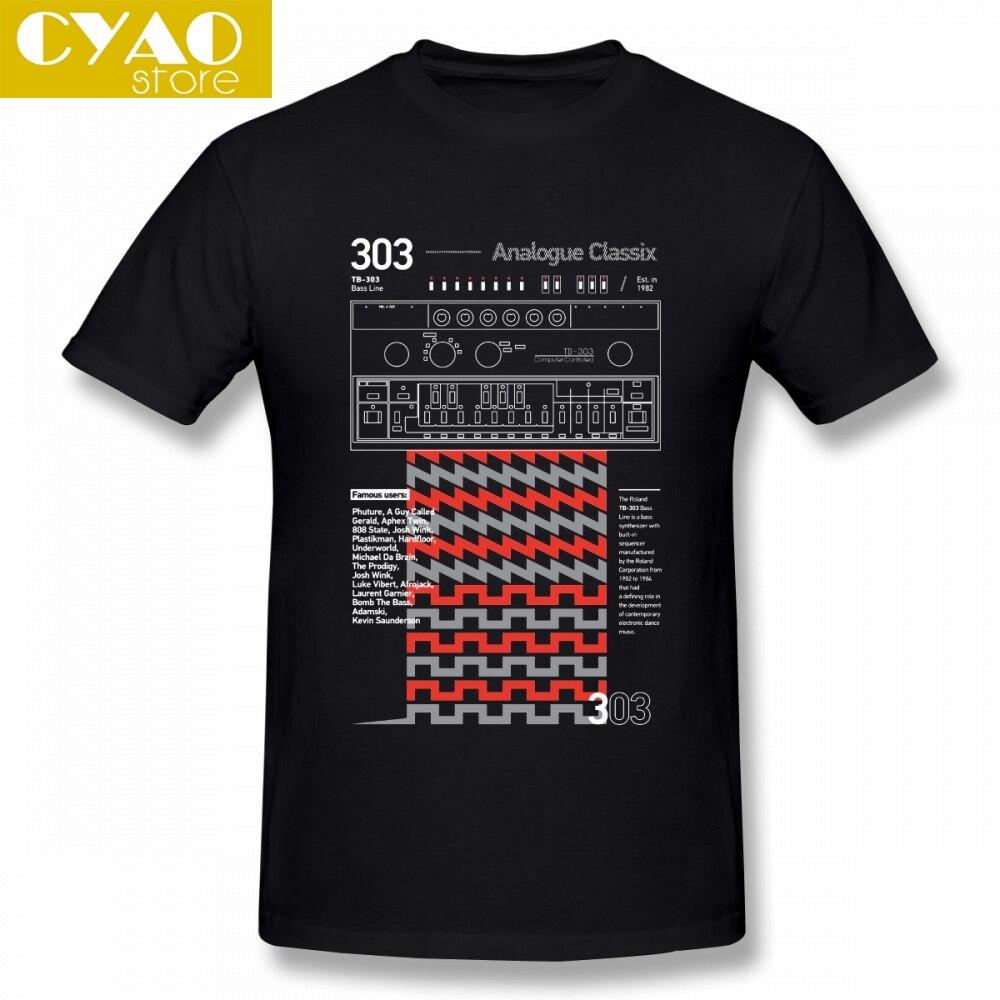 303 Classix acide Techno T-shirt pas cher T-shirt hommes col rond coton XXXL manches courtes drôle t-shirts