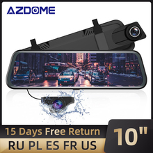 """AZDOME 10 """"Dash Camสำหรับรถยนต์ที่มีFull Touch Screen,กันน้ำกล้องสำรองข้อมูลด้านหลังกล้องNight Vision"""
