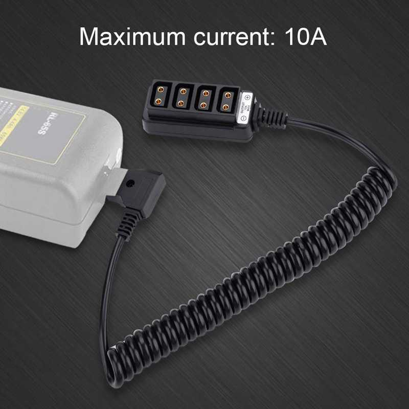 P-Tap Hub Adapter Splitter,Splitter Power Tap Cable Female D-Tap to 4-Port Male D-Tap B Type Power Tap to 4-Port Female with Spring Wire Camera Battery Distributor