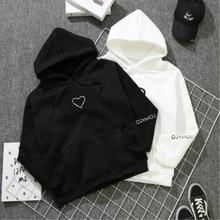 Heart Hoodies Sweatshirts 2020 Women Casual Kawaii Harajuku