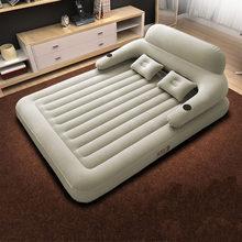 Engrossado dobrável cama de viagem dupla casa cama inflável almoço break único almofada ar da praia ao ar livre sofá portátil
