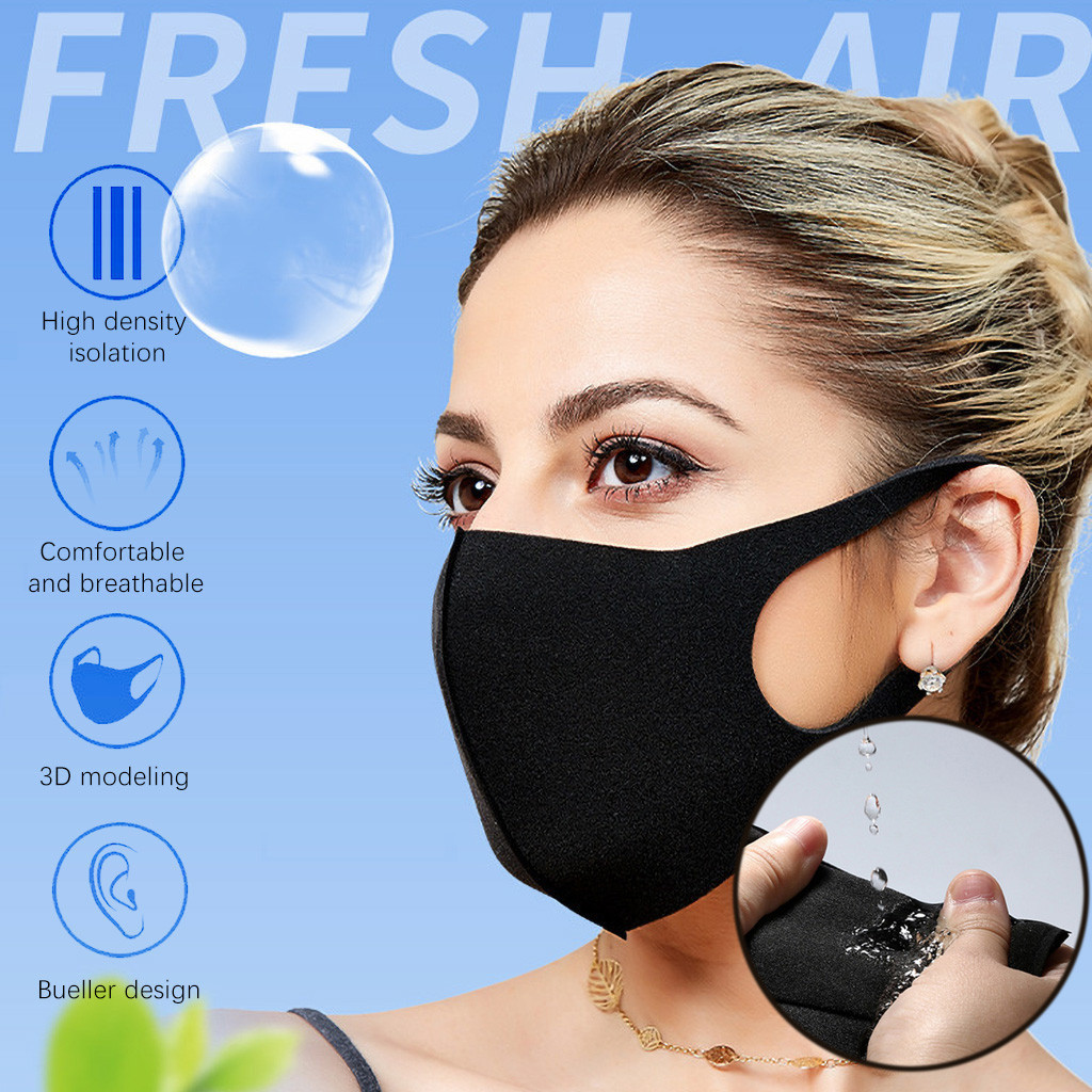 20PCS Face Maske Dustproof Face Maske Reusable Washable Kpop Adult Face Maske Cover Cycling Anti-Dust Protection Mouth Face Mask