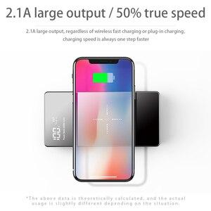 Image 4 - Qi Power Bank 20000mAh Dual USB External Battery Charger For iPhone X XS 8 plus 11 pro Samsung Xiaomi mi 9 Wireless Power bank