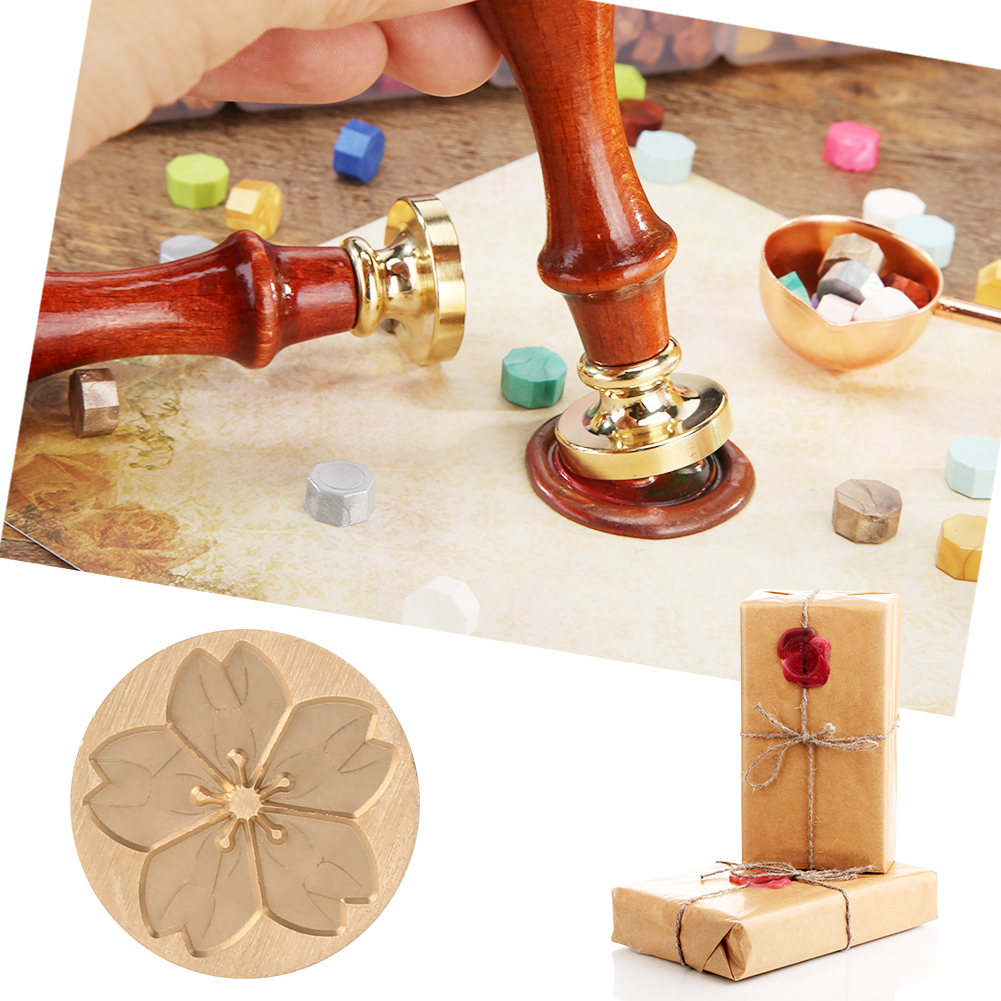 Wax Seal Stamp Fire Painting Plant Creative Patterns DIY Envelope for Crown Tree Ornament Parties Wedding