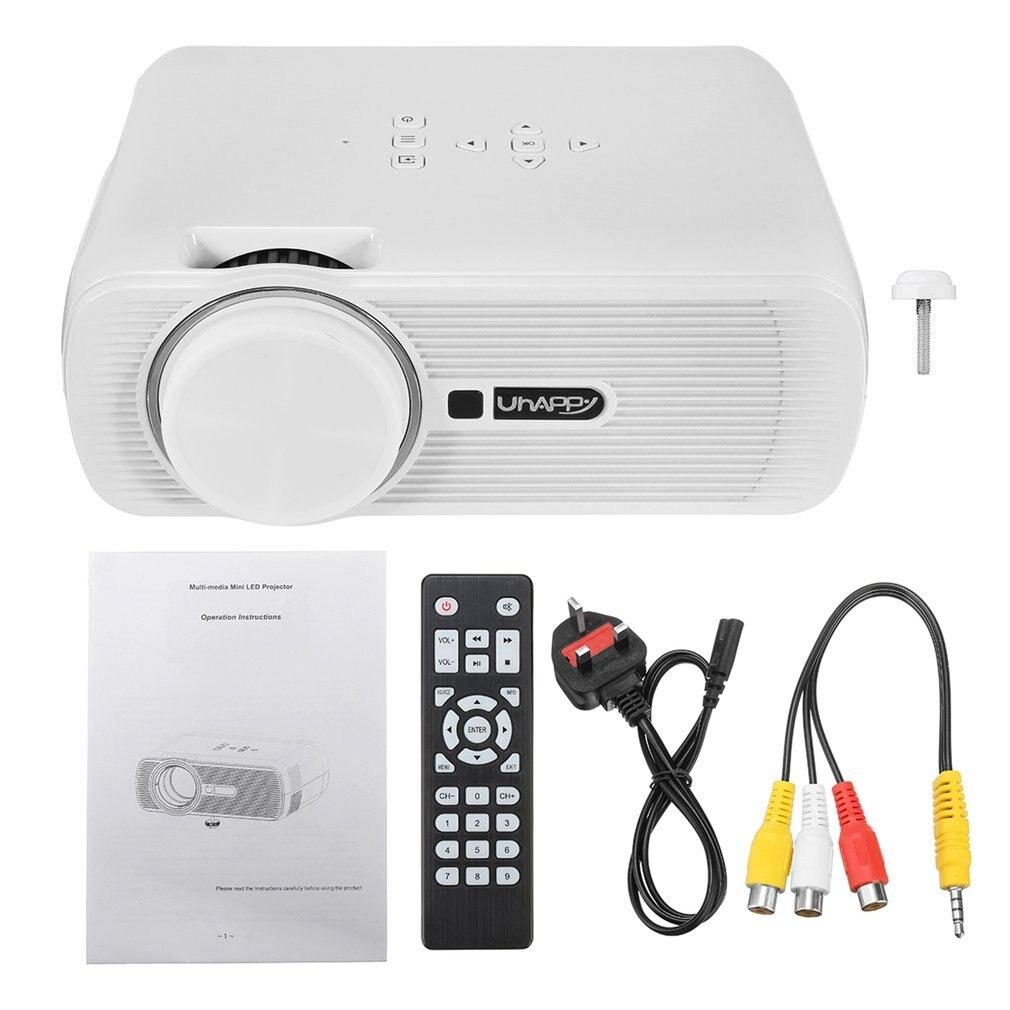 Portable multimédia Mini Full HD 16:9 1000LM 1080P Android 6.0 ménage projecteur LED cinéma maison pour Smartphone