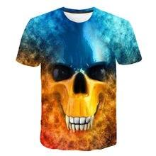 Camiseta con estampado 3D para hombre y mujer, camiseta informal de la serie Skull, camiseta cómoda y cómoda para todos los part