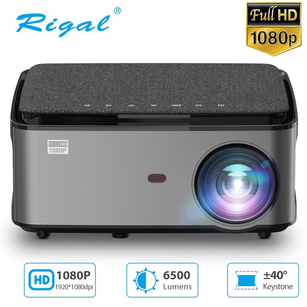 Rigal RD828 новый 1080P Full HD проектор WiFi Мультиэкранная функция 1920 x 1080P меньший проектор по размеру создать 3D смартный домашний кинотеатр