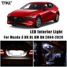 Canbus For Mazda 3 BK BL BM BN 2004-2020 Vehicle LED Interior Dome Map Trunk Light Upgrade Kit Car Lighting Accessories