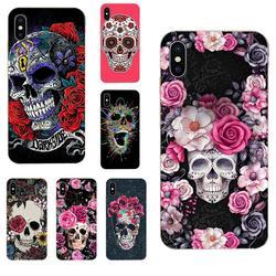 На Алиэкспресс купить чехол для смартфона sugar skull soft art cover case for huawei honor mate nova note 20 20s 30 5 5i 5t 6 7i 7c 8a 8x 9x 10 pro lite play