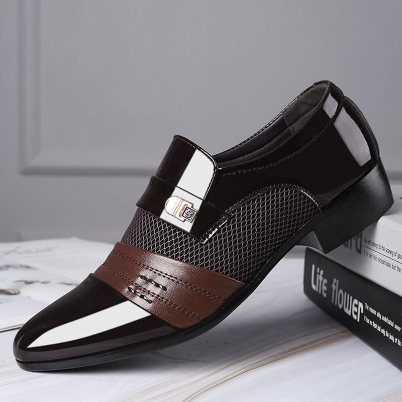 Mazefeng Fashion Slip On Men Dress Shoes Men Oxfords Fashion Business Dress Men Shoes 2020 New Classic Leather Men'S Suits Shoes 4