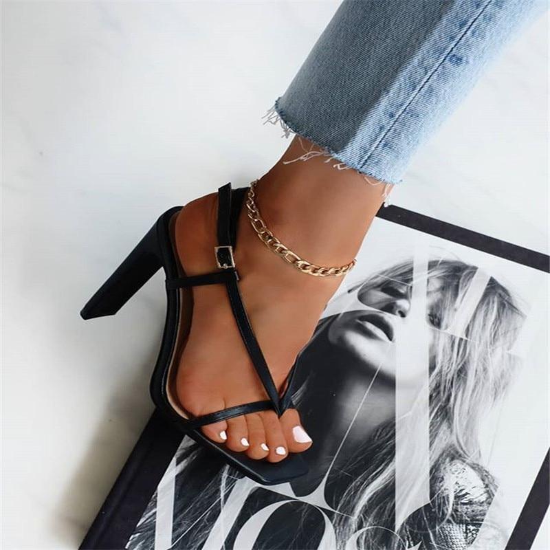 Modyle Punk Vintage Gold Color Metal Link Chain Anklet For Women Men Ankle Bracelet Fashion Beach Jewelry