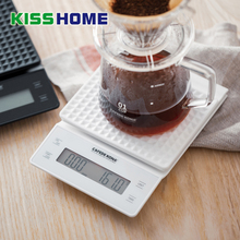 Household Electric Scale Portable High Precision 3kg/0.1g Drip Coffee With LED Display Timer Digital  Kitchen Scales