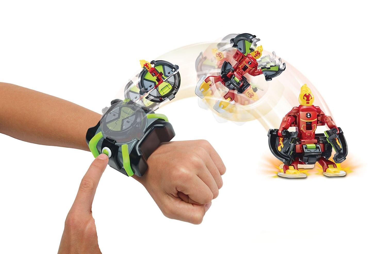 Ben dez menino hacker transformação dispositivo herói batalha heatblast quatro braços ben tennyson brinquedo das crianças presente