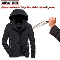 New City leisure self defense Men jaket anti cut fashion security hacking stab arme de defence police swat fbi clothing M 3XL