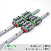HIWIN HGW15CA Linear Guideways Flange Blocks Carriage Length 1000 1200 1500mm Linear Guide Rail HG15 CNC Parts High Precision