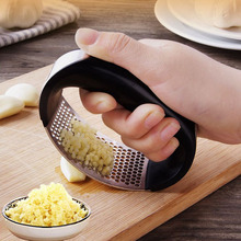 Stainless Steel Garlic Press Manual Grinder Grater Ginger Kitchen Accessories Chopper Crusher Gadget