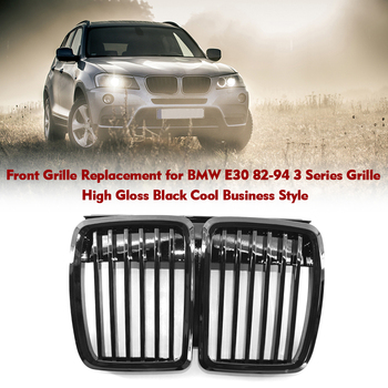 Car Front Grille Replacement for BMW E30 82-94 3 Series Grille High Gloss Black Cool Bussiness Style Matte Black image