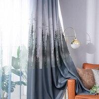 Fenster Zeder Drucken Wohnzimmer Dedroom Blackout Vorhänge Schlafzimmer Polyester Vorhänge Fenster Jalousien Anorganische Waschen Ein Stück