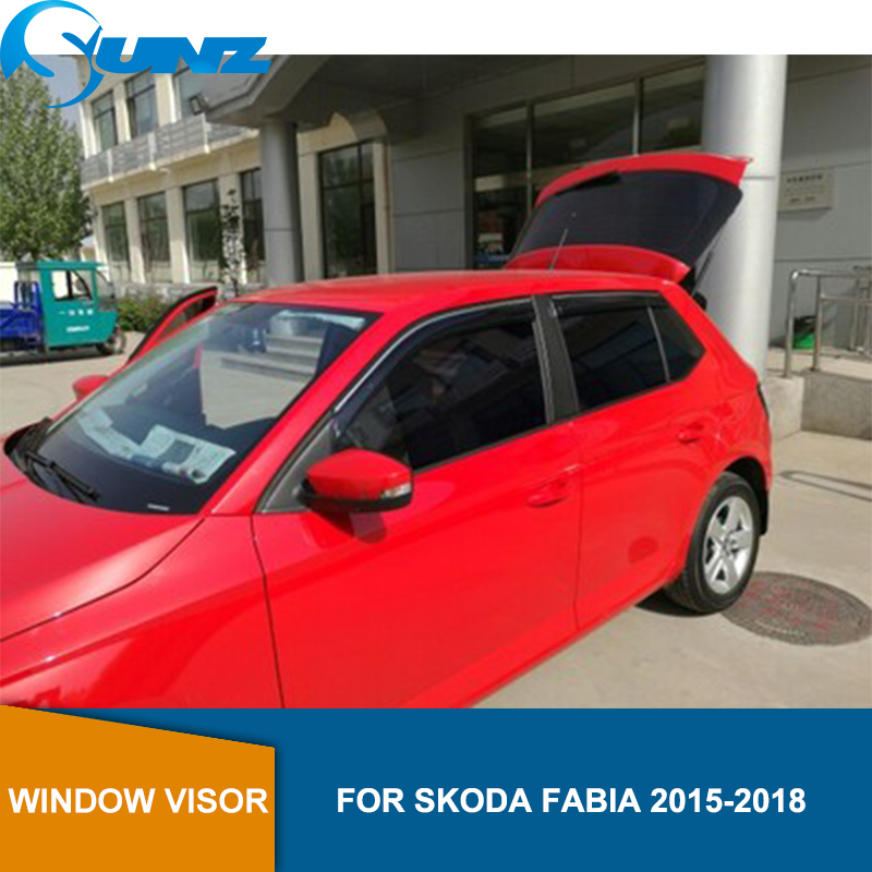 Window Visor for Skoda FABIA 2015-2018 side window deflectors rain guards SUNZ