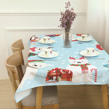 Christmas tablecloth Household modern decorative tablecloth Dirt-resistant, skid-proof and waterproof tablecloth