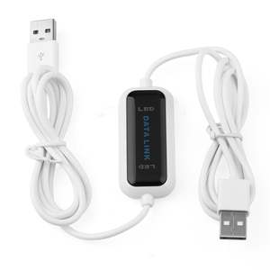 Transfer-Bridge Direct 2-Computer Led-Cable Data-File USB Sync Between To Share PC Link-Net