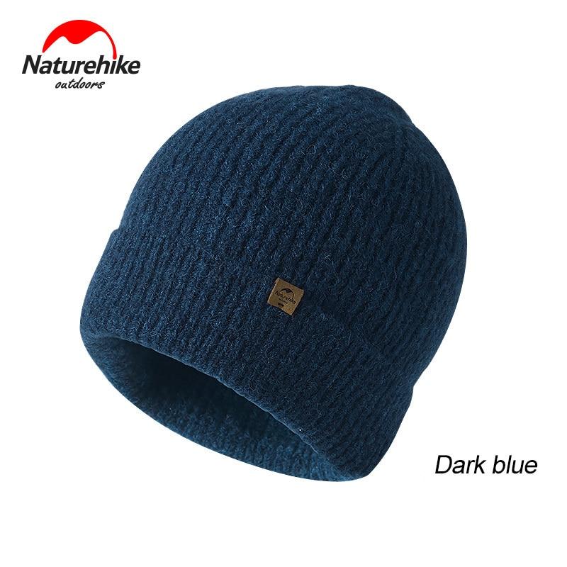 Naturehike invierno caza gorro de lana tejido al aire libre gorras gruesas sombreros populares hombres mujeres moda Casual sombreros para mantener el calor Otoño Invierno