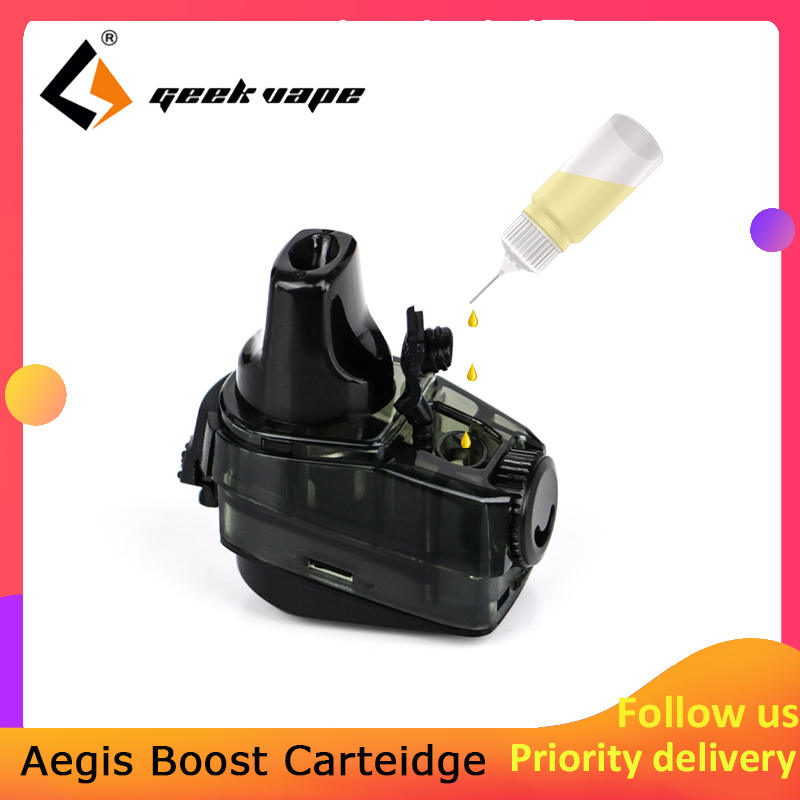 1pcs/pack Geekvape Aegis Boost Cartridge 2ml/3.7ml Capacity With 0.4ohm/0.6ohm Coil Support DTL/MTL Vaping For Aegis Boost Kit