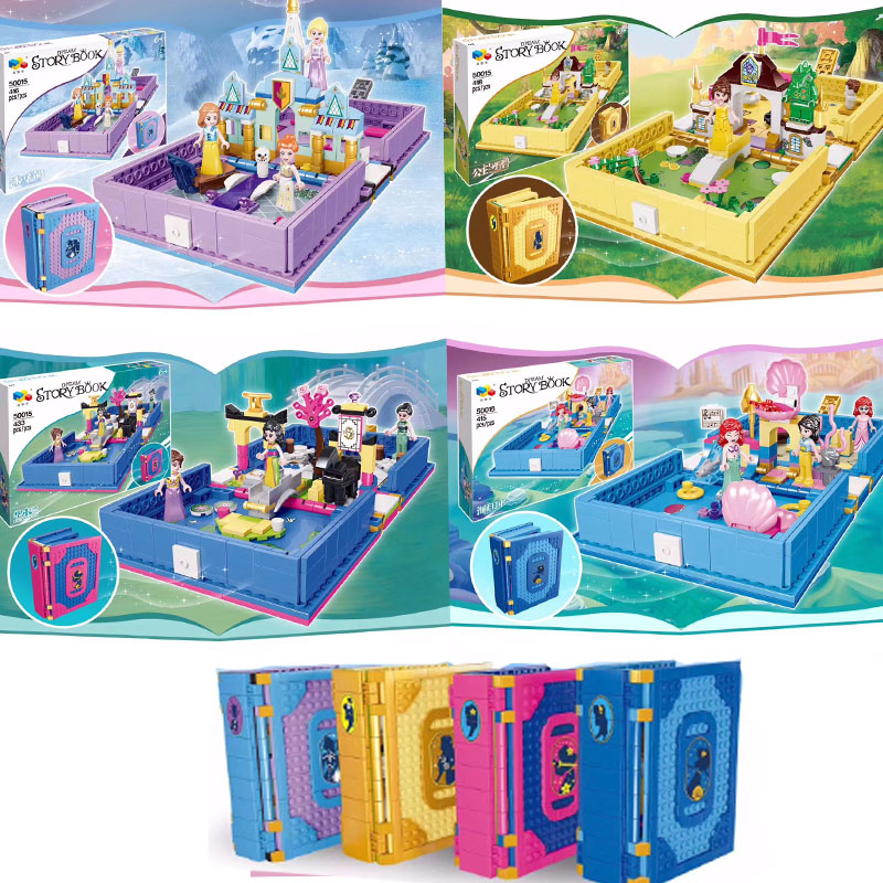 43174 Lepining Belle's Ariel's Anna And Elsa's Ice Palace Mulan's Storybook Adventures Building Blocks Bricks Toys Kids Gift