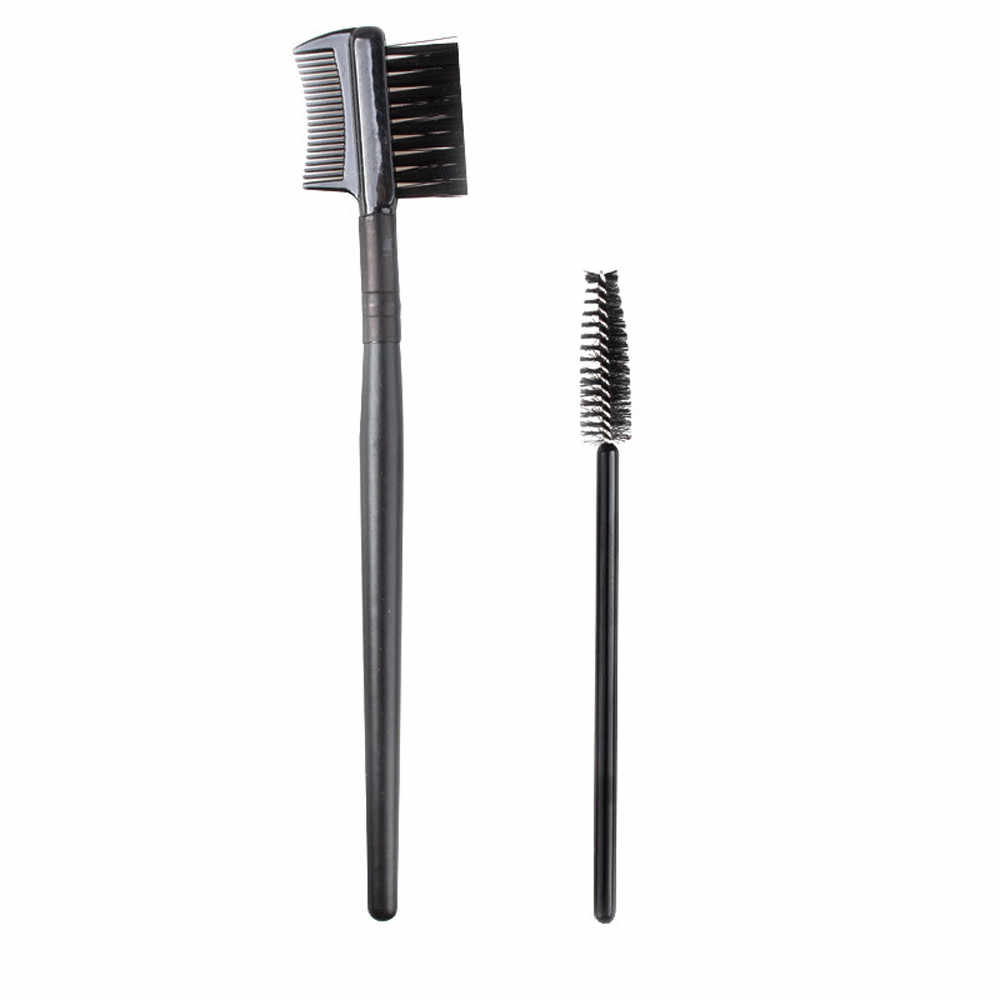 Single-kopf Schraube Wimpern Pinsel + Doppel Augenbraue Kamm Pinsel Make-Up-Tools Wimpern Pinsel Wimpern Kamm Professional Make-Up Pinsel