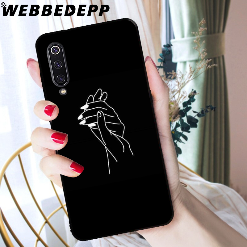 WEBBEDEPP Simple Art Line Deer flower Soft TPU Case for Xiaomi Mi 6 8 A2 Lite 6 9 A1 Mix 2s Max 3 F1 9T A3 Pro CC9E Cover in Fitted Cases from Cellphones Telecommunications