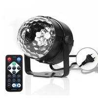 RGB LED Party Effect Crystal Magic Ball Light Stage Lighting 9W Mini Lamp Bulb Party Disco Club DJ Light Show US\/EU Plug