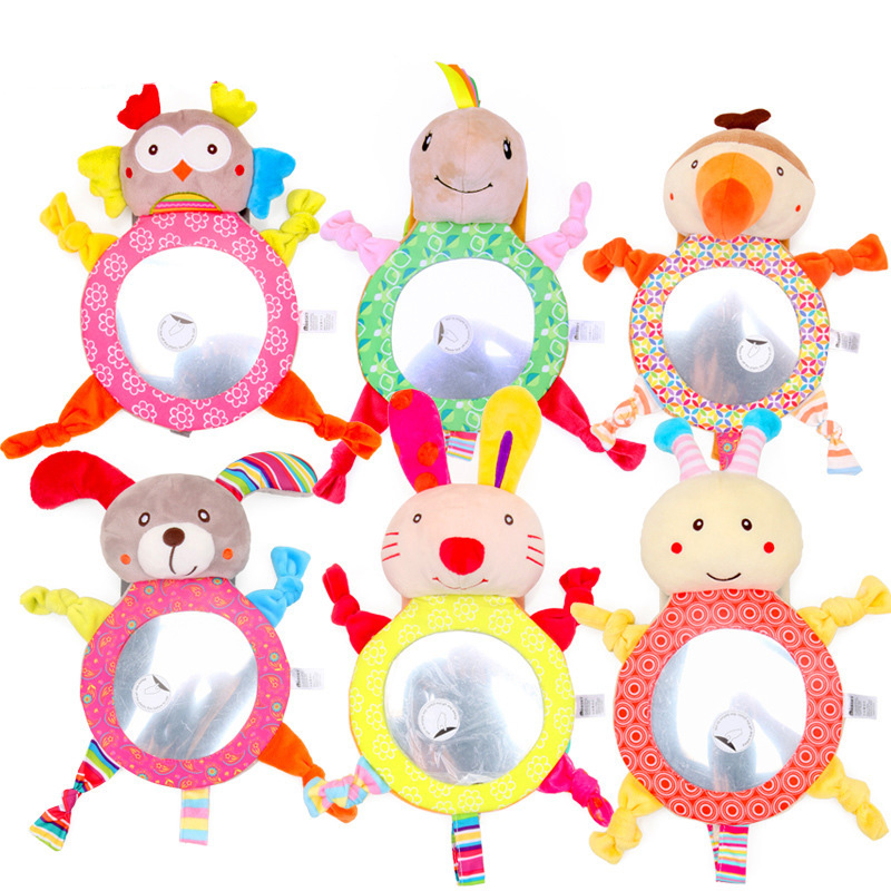 Adjustable Safety Car Baby Mirror Back Seat Cartoon Easy View Mirror Safe Driving Kids Cute Infant Monitor