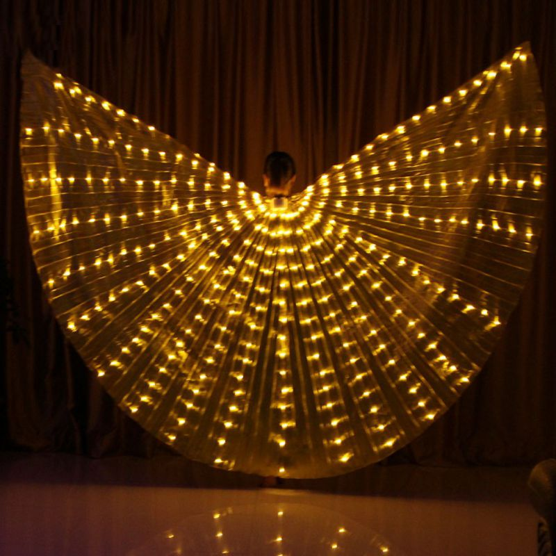 LED Luminous Wings 360 Degree Dance Wings Luminous Dance Props Belly Dance Costumes Dancer Stage Costumes