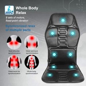 Image 4 - KLASVSA elektrikli taşınabilir ısıtma titreşimli sırt masajı sandalye yastık araba ev ofis lomber boyun yatak ağrı kesici