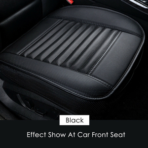 Image 3 - 1pcs Car Seat Cover Without Backrest PU Leather Bamboo Charcoal Auto Seat Cushion Automobiles Non slip Cover Seat