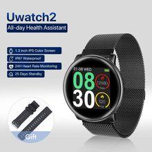 UMIDIGI Uwatch2 akıllı saat Android için, IOS 1.3 inç tam dokunmatik ekran IP67 reloj inteligente 7 spor modları tam Metal tek kutuplu