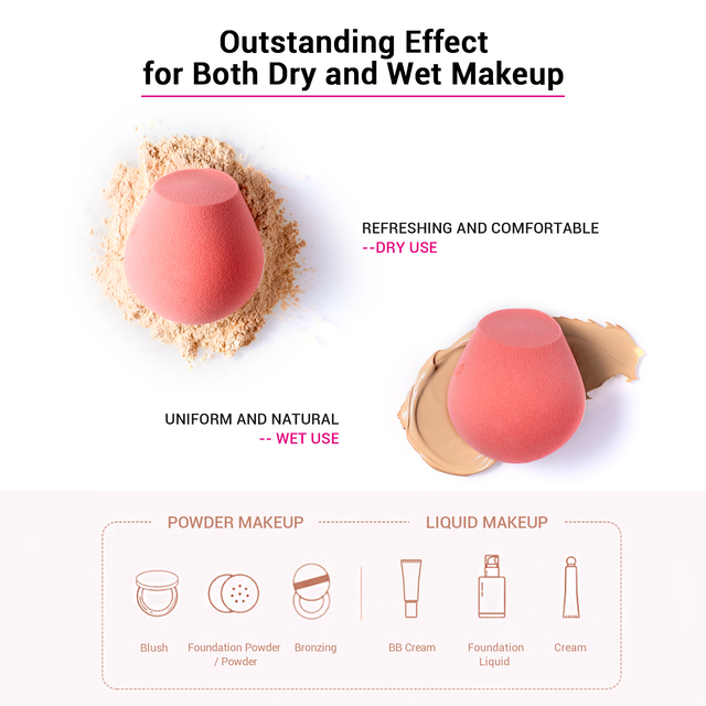Jessup Makeup Sponge Professional Cosmetic Puff Soft Foundation Blending Cream Concealer Beauty Tools 2