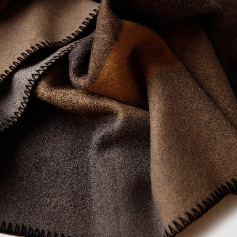 Чистое 100% шерстяное Клетчатое одеяло утяжеленное плотное высококачественное одеяло для пикника и путешествий Клетчатое одеяло с узором для кровати и дивана - 3